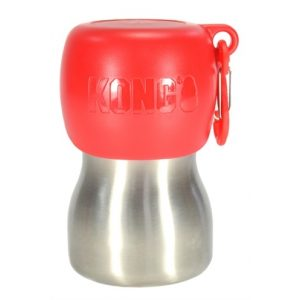 KONG H2O DRINKFLES RVS ROOD 280 ML